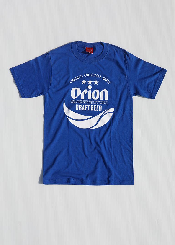 オリオンビール 丸ロゴTシャツ     青(ROYAL BLUE)   ORIONBEER T-SHIRT