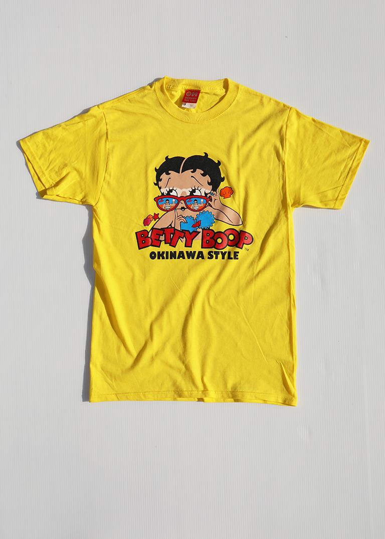 サングラス日焼け ベティーちゃん Tシャツ イエロー(YELLOW) BETTYBOOP T-SHIRT