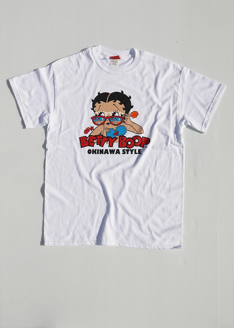 サングラス日焼け ベティーちゃん Tシャツ 白(WHITE)BETTYBOOP T-SHIRT