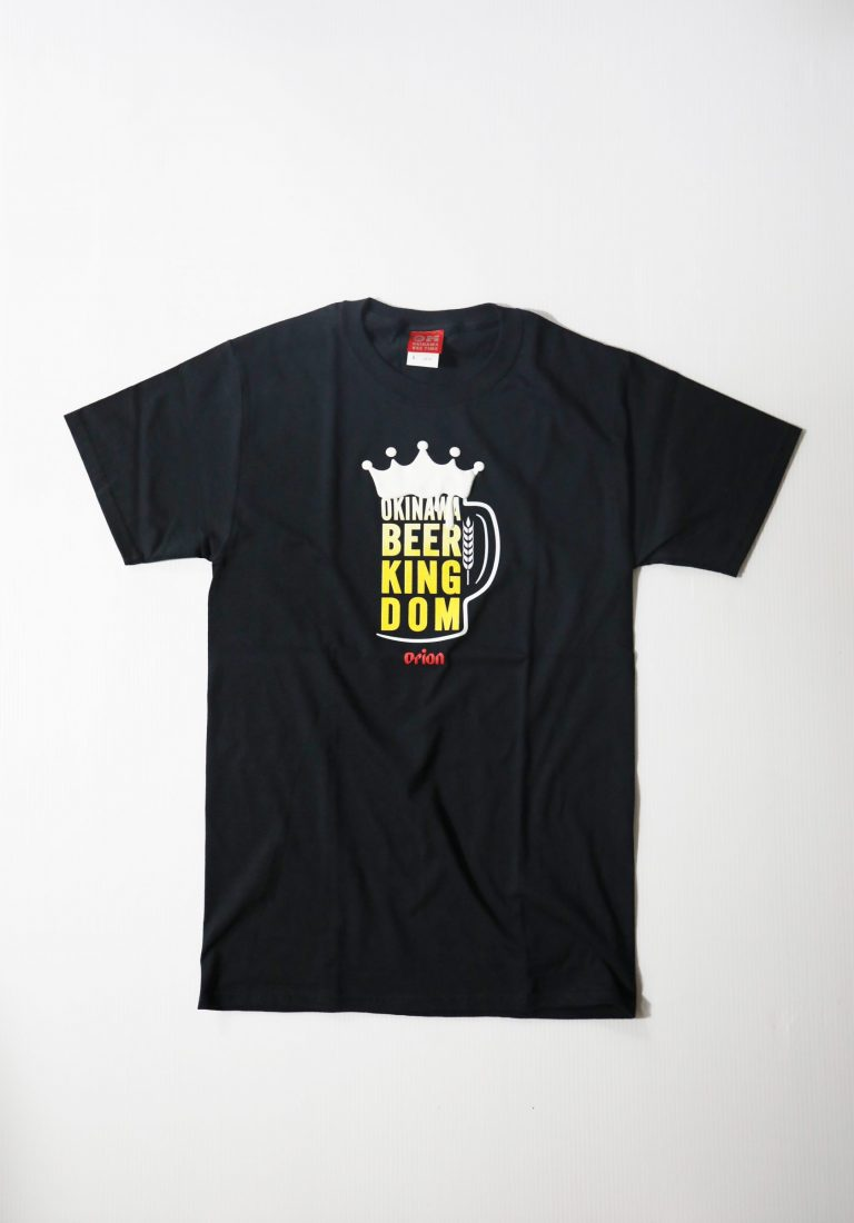 オリオンビール BEER KINGDOM  黒(BLACK)  ORIONBEER T-SHIRT