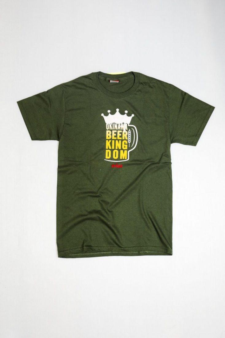 オリオンビール BEER KINGDOM  ミリタリーグリーン(M/GREEN)  ORIONBEER T-SHIRT