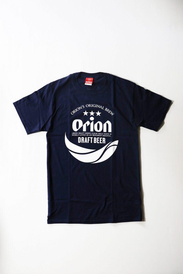オリオンビール 丸ロゴTシャツ  紺(NAVY ) ORIONBEER T-SHIRT