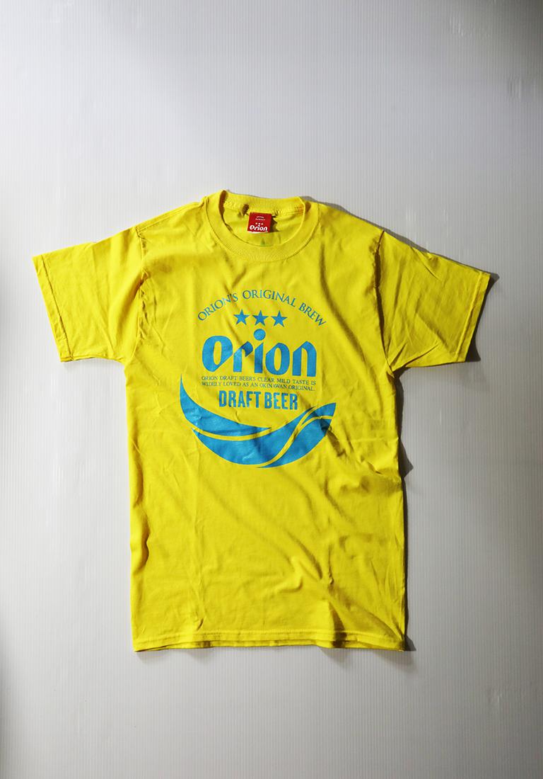 オリオンビール 丸ロゴTシャツ  イエロー(YELLOW ) ORIONBEER T-SHIRT