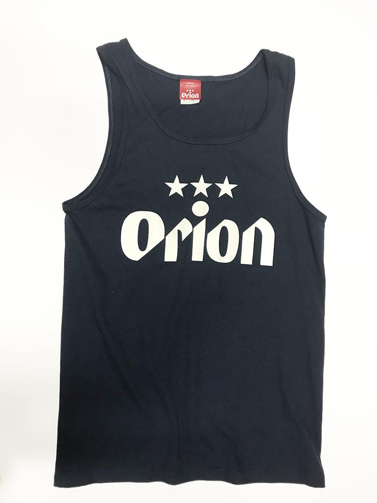オリオンビール 文字ロゴ タンクトップ 紺(NAVY) (インク WHITE) ORIONBEER TANK TOP
